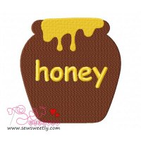 Honey Jar Embroidery Design