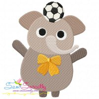 Animal Student-Elephant Embroidery Design