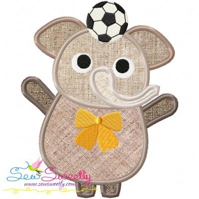 Animal Student-Elephant Applique Design For Back To School