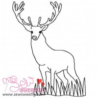 Deer Outline-1 Embroidery Design