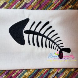 Fish Bones Embroidery Design