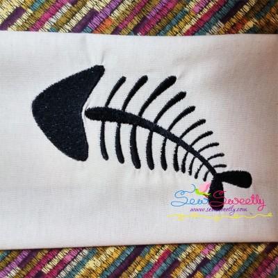 Fish Bones Embroidery Design