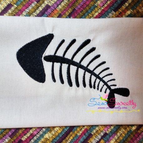 Fish Bones Machine Embroidery Design For Kids