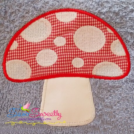Mushroom Applique Design Best For Kitchcen Towels