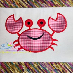 Smiling Crab Applique Design