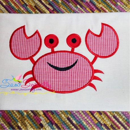 Smiling Crab Applique Design Pattern- Category- Sea Life Designs- 1