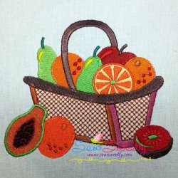 Colorful Fruit Basket-10 Embroidery Design