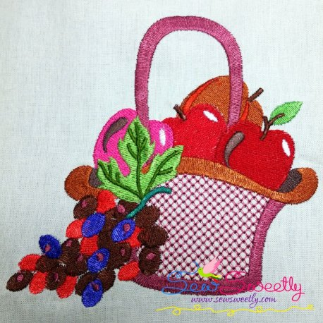 colorful fruit basket 9 machine embroidery design