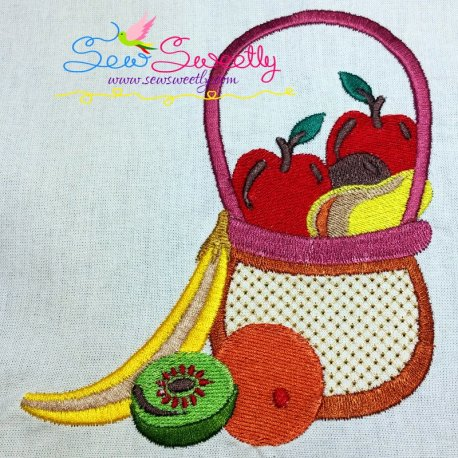 Colorful Fruit Basket-8 Embroidery Design