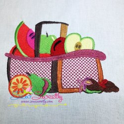 Colorful Fruit Basket-7 Embroidery Design