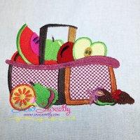 Colorful Fruit Basket-7 Embroidery Design
