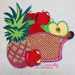 Colorful Fruit Basket-6 Embroidery Design