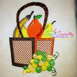 Colorful Fruit Basket-5 Embroidery Design
