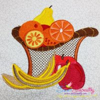 Colorful Fruit Basket-4 Embroidery Design
