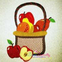 Colorful Fruit Basket-1 Embroidery Design