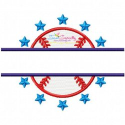 Baseball Split Embroidery Design