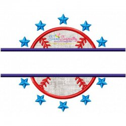 Baseball Split Applique Design
