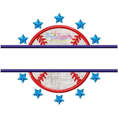 Baseball Split Applique Design