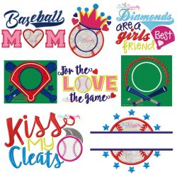 Baseball Embroidery Design Bundle