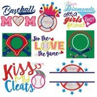 Baseball Embroidery Design Bundle