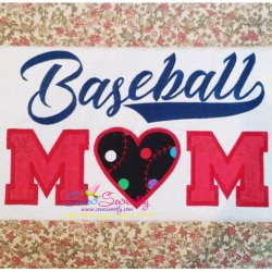 Baseball Mom Applique Design