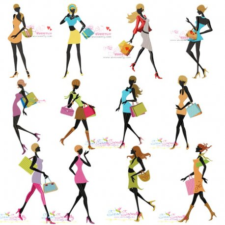 Shopping Ladies Embroidery Design Bundle Best For Handbags