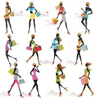 Shopping Ladies Embroidery Design Bundle