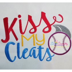 Kiss My Cleats Embroidery Design
