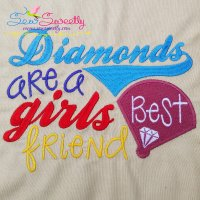 Diamonds Are a Girls Best Friend Embroidery Design