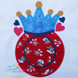 Baseball Crown Monogram Applique Design