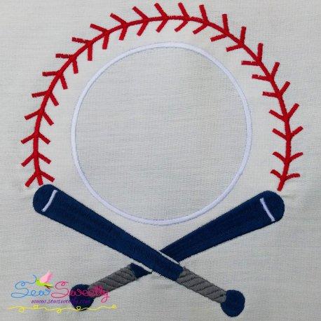 Baseball Bat Monogram Machine Embroidery Design