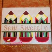 Split Pencils Applique Design