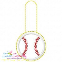 Baseball Key Fob In The Hoop Embroidery Design