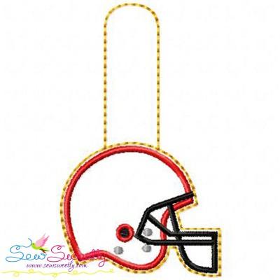 Football Helmet Key Fob In The Hoop Embroidery Design
