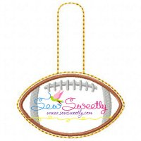 Football Key Fob In The Hoop Embroidery Design