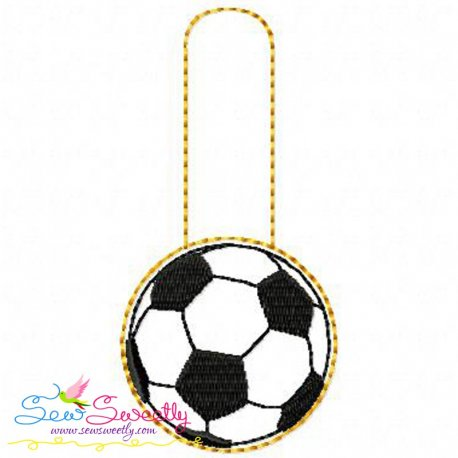 Soccer Ball Key Fob In The Hoop Machine Embroidery Design