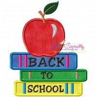 Back To School-4 Machine Applique Design