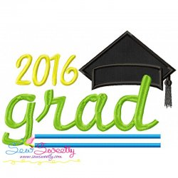 Grad-2016 Machine Applique Design