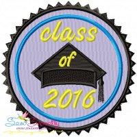 Class of 2016 Machine Embroidery Design