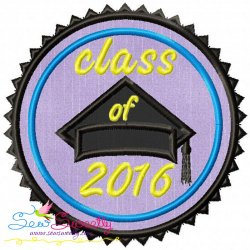Class of 2016 Machine Applique Design