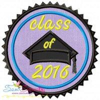 Class of 2016 Machine Applique Design