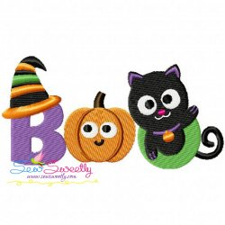 Halloween Boo Machine Embroidery Design