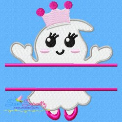 Girl Ghost Split Machine Embroidery Design