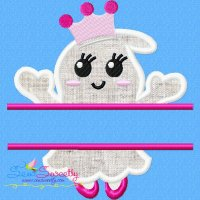 Girl Ghost Split Machine Applique Design
