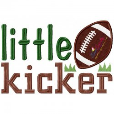Little Kicker Embroidery Design