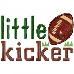 Little Kicker Applique Design