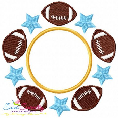 Football Star Monogram Embroidery Design For Football Lovers