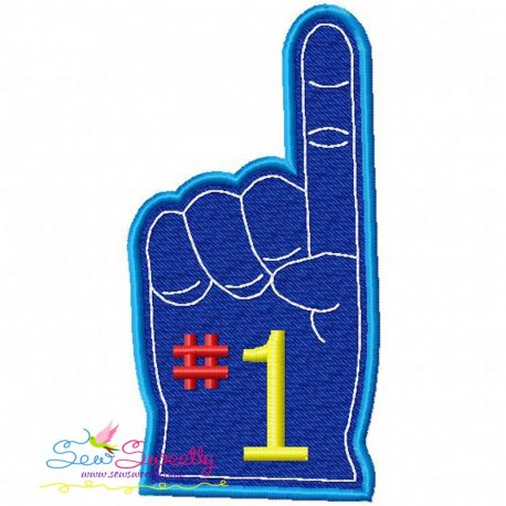 Foam Finger Machine Embroidery Design For Football Lovers