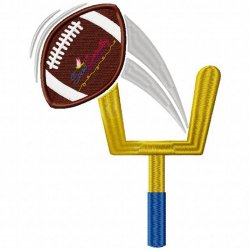 Field Goal Machine Embroidery Design For Football Lovers