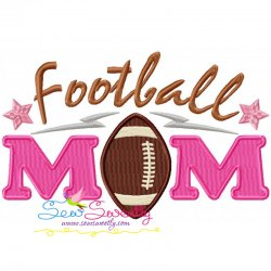 Football Mom Machine Embroidery Design